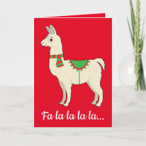 Llama Dressed for the Holidays Holiday Card
