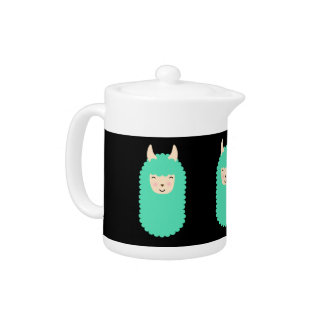 Llama Emoji Happy Teapot