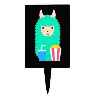 Llama Emoji Movie Buff Cake Topper