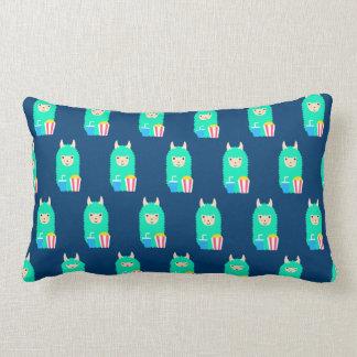 Llama Emoji Movie Buff Lumbar Pillow