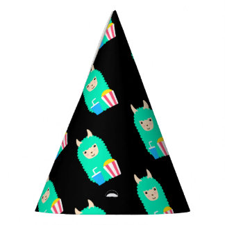 Llama Emoji Movie Buff Party Hat