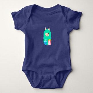 Llama Emoji Movie Lover Baby Bodysuit