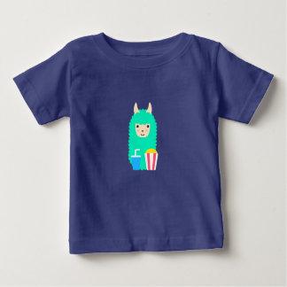 Llama Emoji Movie Lover Baby T-Shirt