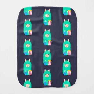 Llama Emoji Movie Lover Burp Cloth