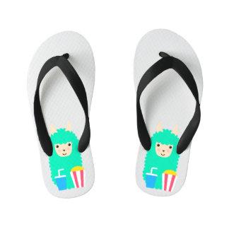 Llama Emoji Movie Lover Kid's Flip Flops