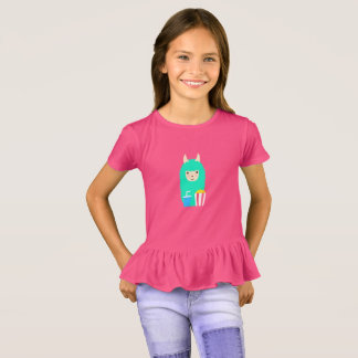 Llama Emoji Movie Lover T-Shirt