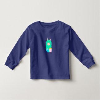 Llama Emoji Movie Lover Toddler T-shirt