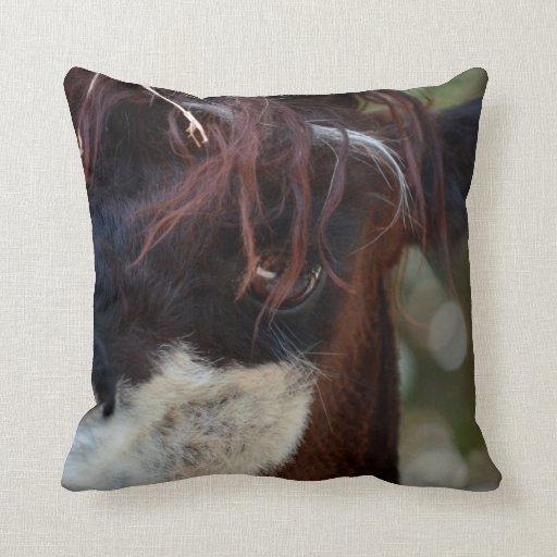 Farm Animal Throw Pillows : llama eye brown animal farm image throw pillow Zazzle