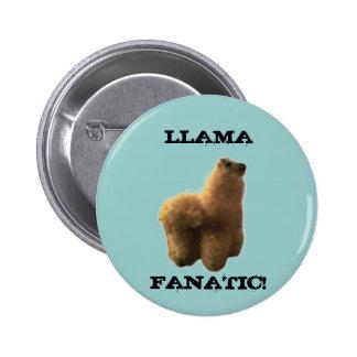 Llama Fanatic Pinback Buttons