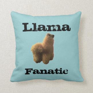 Llama Fanatic Throw Pillow