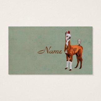 LLAMA & FEATHERS  Business Card