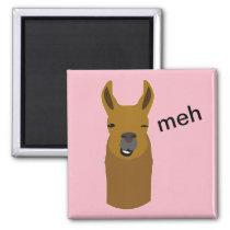 Llama Funny Face Magnet