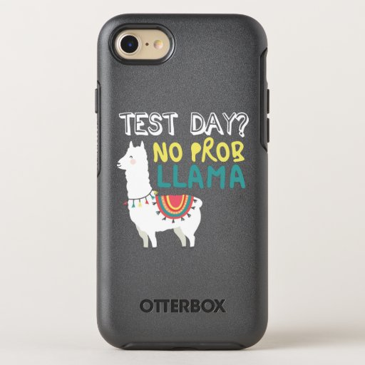 Llama Gift | Test Day No ProbLlama Funny Costume OtterBox Symmetry iPhone SE/8/7 Case