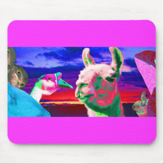 Llama, Goose, Orca, Goat, Bunny Montage Mouse Pad