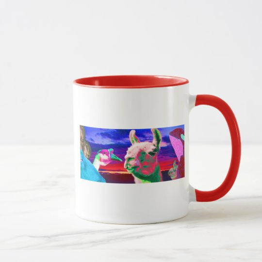 Llama, Goose, Orca, Goat, Bunny Montage Mug