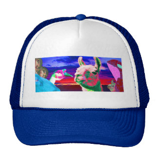 Llama, Goose, Orca, Goat, Bunny Montage Trucker Hat