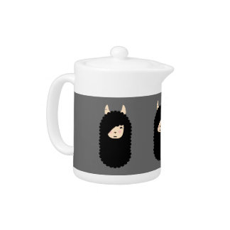 Llama Gothic Emoji Teapot