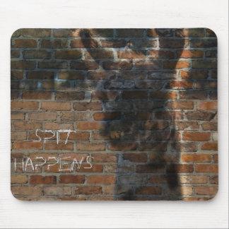Llama Graffiti on Brick Wall, Spit Happens Mouse Pad
