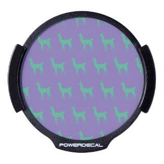 Llama Green Purple.ai LED Window Decal