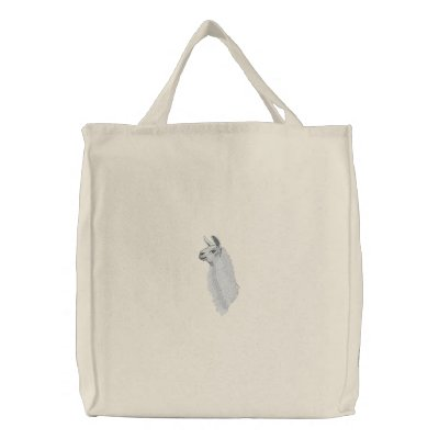 Llama Head Canvas Bag