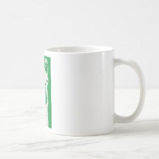 llama head in emerald green coffee mug