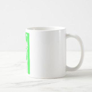 llama head in lime green coffee mug