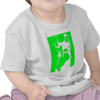 llama head in lime green tee shirt