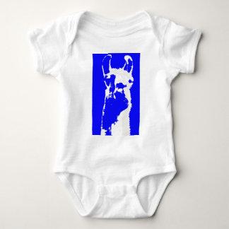 llama head in marine blue t-shirt