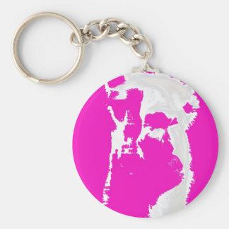 Llama head in pink keychains