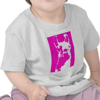Llama head in pink shirts