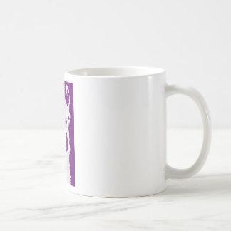 llama head in purple mug