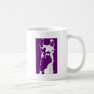 llama head in purple mugs