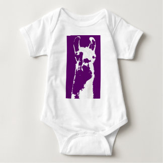 llama head in purple t-shirt