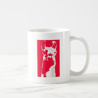 Llama head in RED Coffee Mug