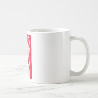 Llama head in RED Coffee Mugs