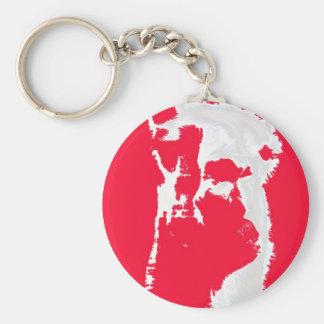 Llama head in RED Key Chains