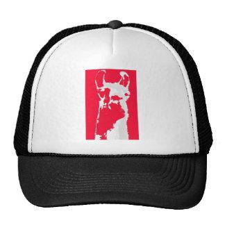 Llama head in RED Trucker Hat