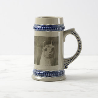 Llama Head Stein Coffee Mugs