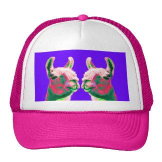 Llama Heads in a Bright Contemporary Graphic Trucker Hat