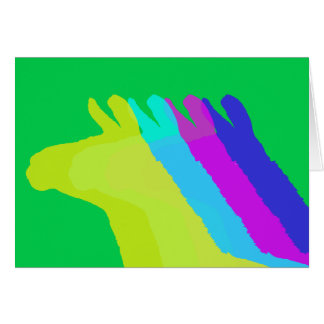 Llama Heads in Bright Bold Graphic Colors Card