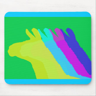 Llama Heads in Bright Bold Graphic Colors Mouse Pad