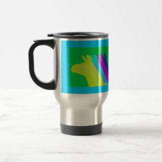 Llama Heads in Bright Bold Graphic Colors Travel Mug