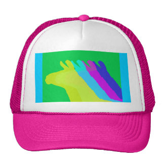 Llama Heads in Bright Bold Graphic Colors Trucker Hat