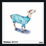"Llama in Blue Sweater Wall Decal<br><div class=""desc"">watercolor llama</div>"