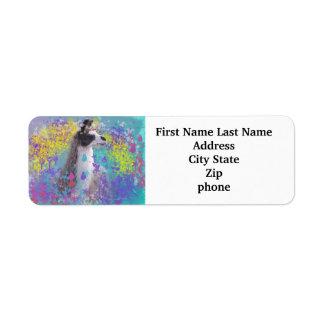 Llama in Fantasy Dream Land Labels