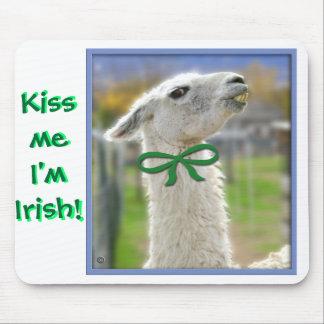 Llama irlandesa: Béseme Alfombrilla De Ratón