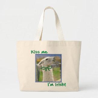 Llama irlandesa: Béseme Bolsa Tela Grande