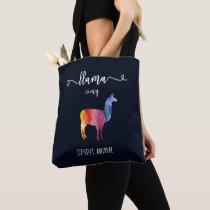 Llama is my spirit animal. Funny Cute Watercolor Tote Bag