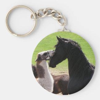 Llama kiss Keychains