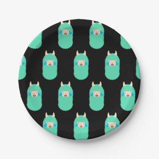 Llama Laughing Emoji Paper Plate